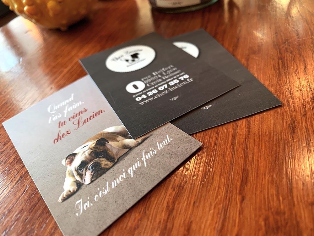 Cartes De Visite Originales Pour Restaurant